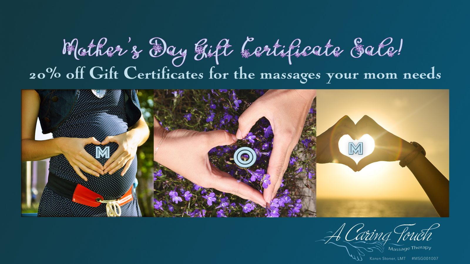 Mother's Day Massage Gift Certificate Sale